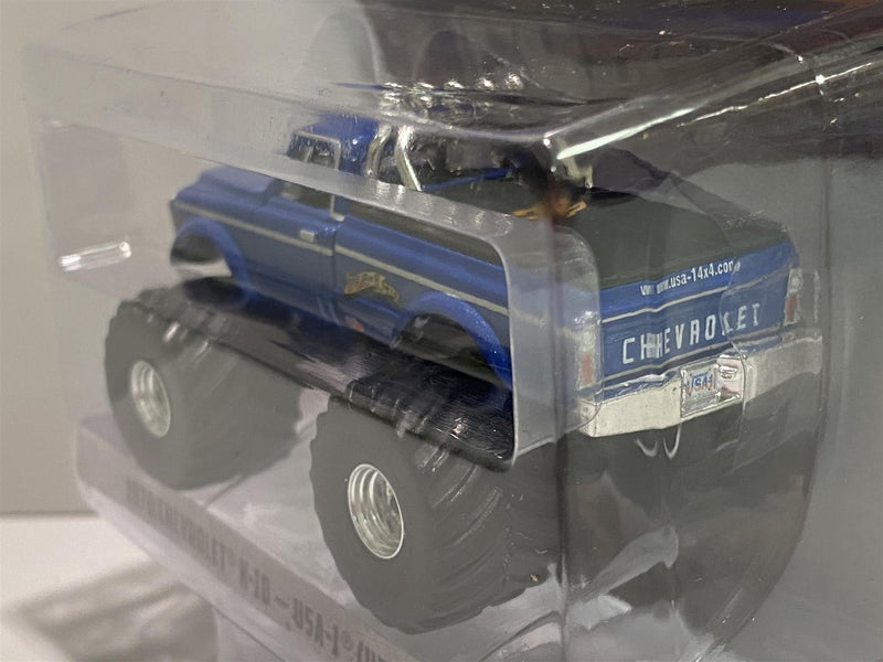 1970 Chevrolet K-10 USA-1 Heritage Blue 1:64 Scale Greenlight 49020B