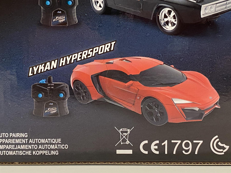Fast and Furious Lykan Hypersport Red R/C 1:16 Scale Jada 98546
