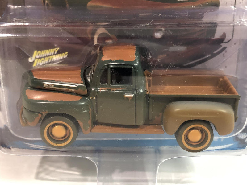 1950 Ford F-1 Pick Up Meadow Green 1:64 Scale Johnny Lightning JLSF015A