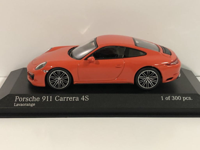 Minichamps 410067241 Porsche 911 Carrera 4S 2016 Orange 1:43 Scale