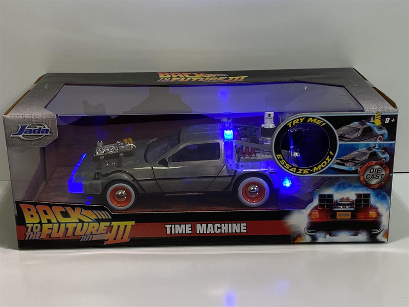 Back to the Future Part III Delorean with Lights Time Machine 1:24 Jada 32166