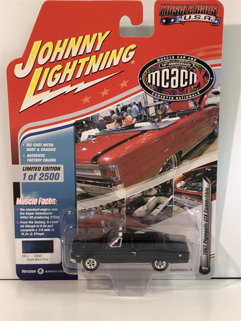 1971 Plymouth Cuba Convertible In-Violet Poly 1:64 Johnny Lightning JLMC016B