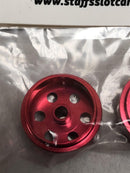 Staffs Aluminium Bullet Hole Wheels in Red 15.8x10mm STAFFS33