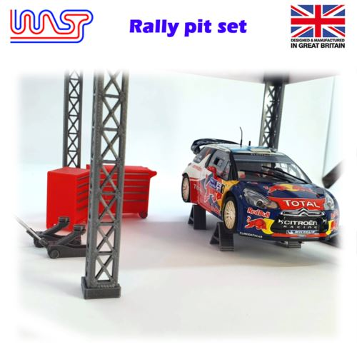 Slot Car Trackside Scenery Rally Service Tool Set Red 1:32 Scale WASP
