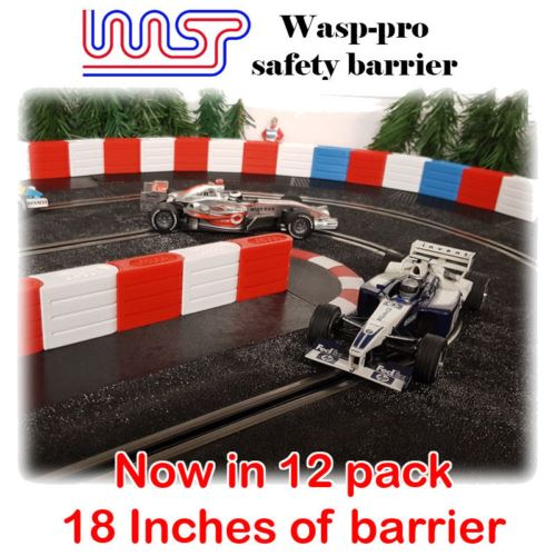 Slot Car Track Scenery Blue Barriers x 12 1:32 Scale NEW Wasp