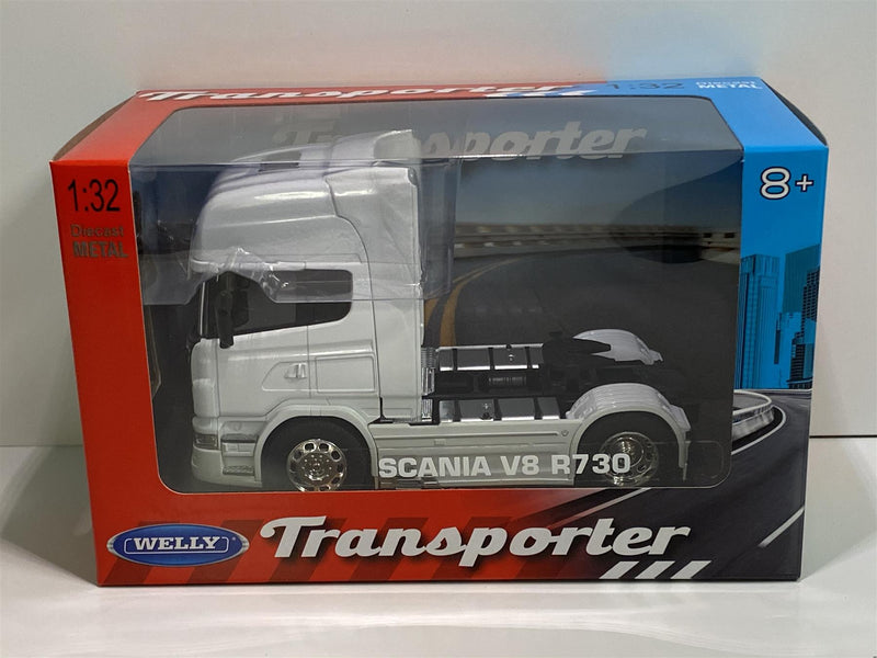 Scania V8 R730 4x2 2015 White 1:32 Scale Welly 32670