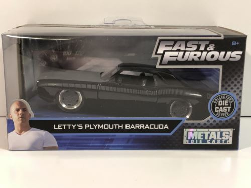 Fast and Furious Lettys Plymouth Barracuda Black 1:32 Scale Jada 97206