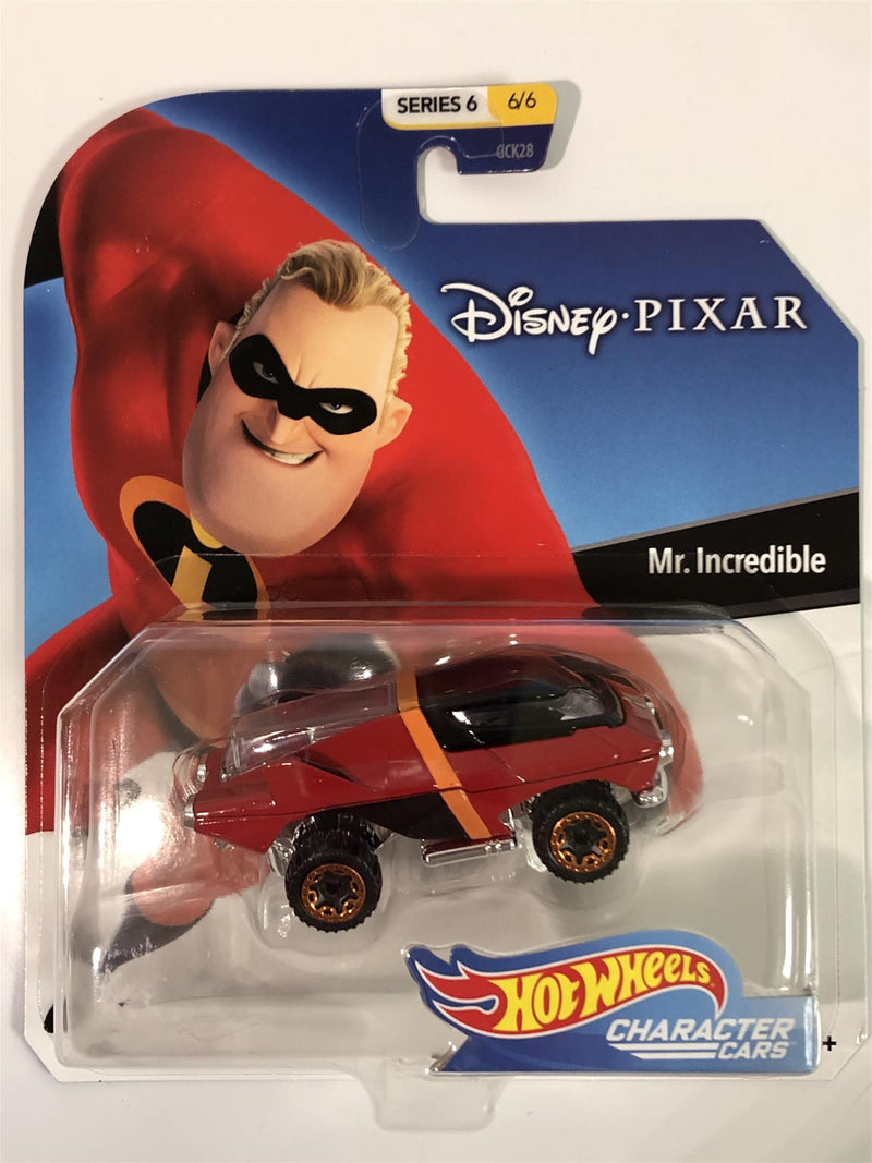 Hot Wheels Character Cars Mr Incredible Disney Pixar 1:64 Scale GGX65