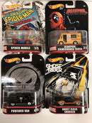 Hot Wheels Retro Marvel 50th Anniversary DMC55 Set of 4