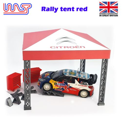 Slot Car Trackside Scenery Rally Service Tent Red 1:32 Scale WASP