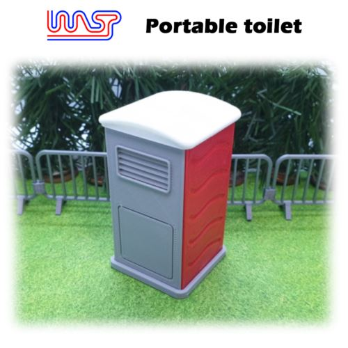Portable Toilet Red Slot Car Track Scenery x 1 New 1:32 Scale WASP