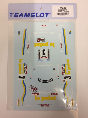 Team Slot 58001 Le Point Decals Stratos 1:32 Scale NEW