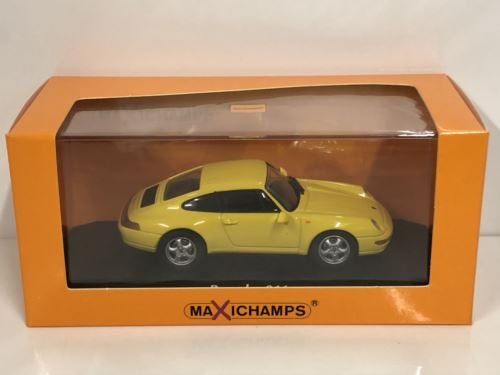 Maxichamps 940063000 1993 Porsche 911 993 Yellow 1:43 Scale