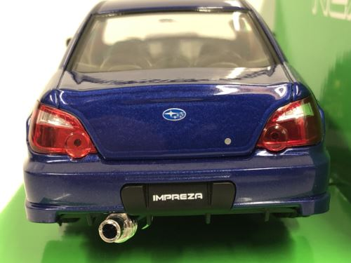 Subaru Impreza WRX STI Blue 1:24-27 Scale Welly 22487NSB New