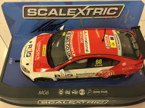 Scalextric C3863AE Autograph Series Josh Cook BTCC MG6 Triple Eight Racing