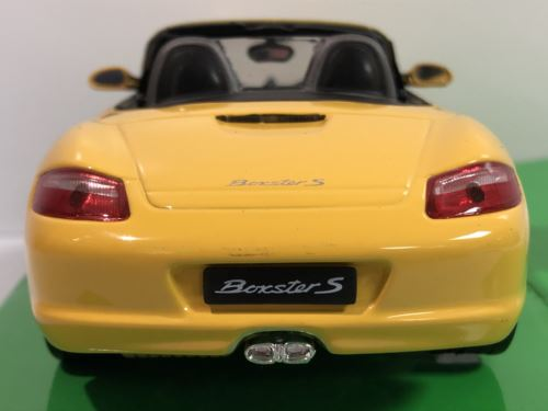 Porsche Boxster Cabrio S Yellow 1:24 Scale Welly 22479Y