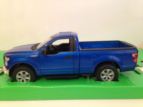 Ford F-150 2015 Blue 1:24 Scale Welly 24063B NEW
