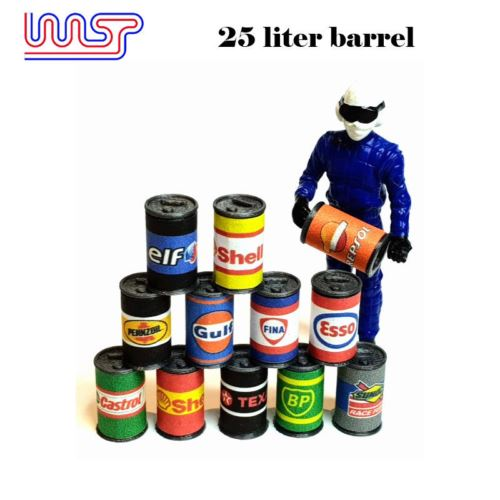 Slot Car Trackside Scenery 25L Barrel Drum x 12 New WASP
