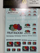 Mitoos M556 Fruit of the Loom Waterslide 1:32 Scale Decals New