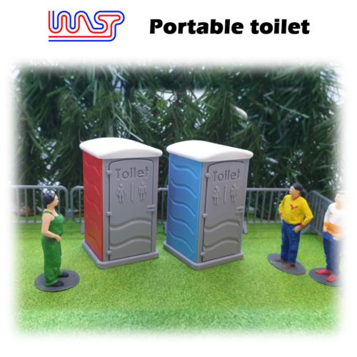 Portable Toilet Blue Slot Car Track Scenery x 1 New 1:32 Scale WASP
