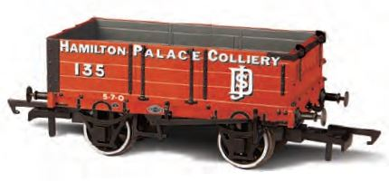 Oxford Rail OR76MW4004 -4 Plank Mineral Wagon - Hamilton Palace Co 00 Gauge