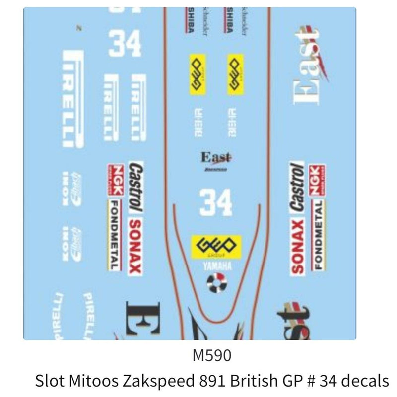 Mitoos M590 Zackspeed 891 British GP