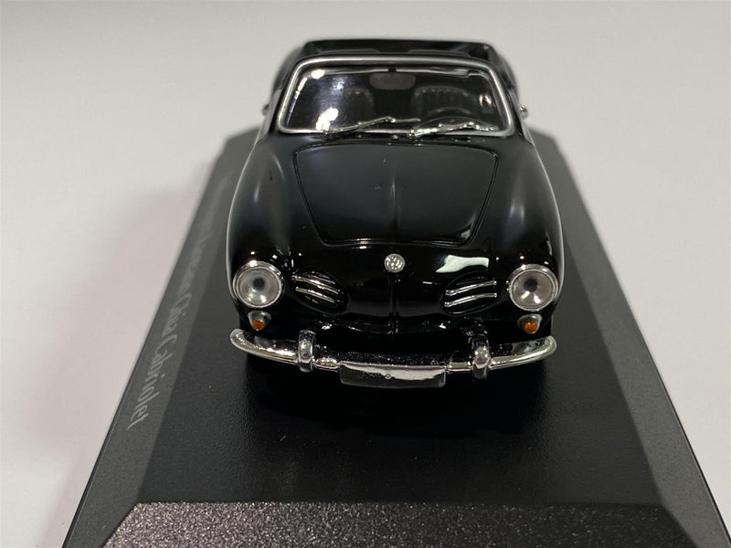 Maxichamps 940051030 VW Karmann Ghia Cabriolet 1955 Black 1:43 Scale