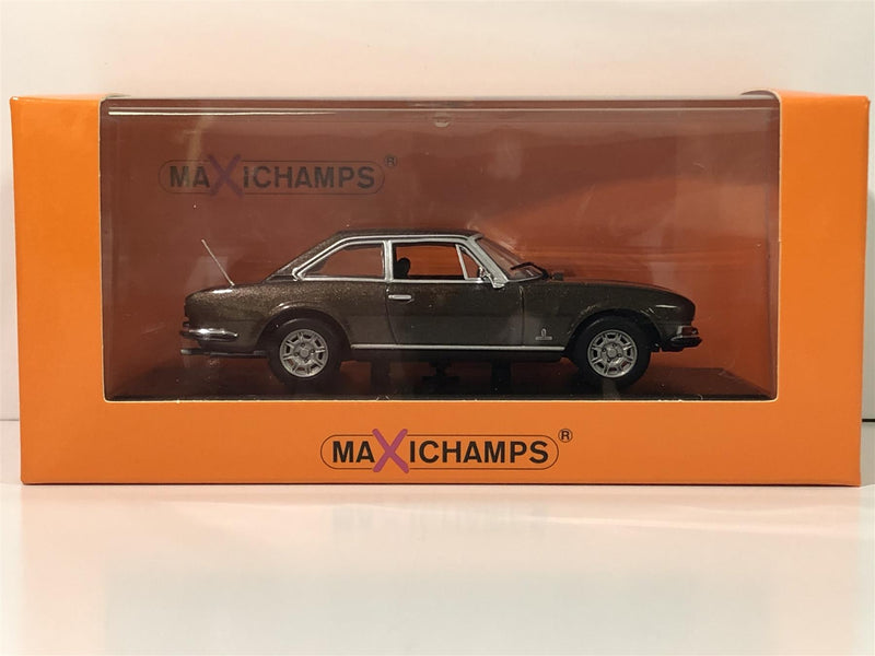 Maxichamps 940112120 Peugeot 504 Coupe 1976 Brown Metallic 1:43 Scale Boxed