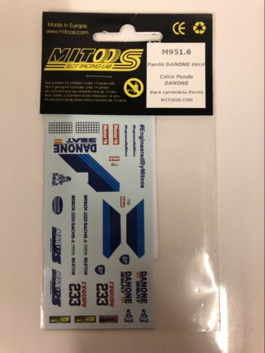 Mitoos M951.6 Panda Danone Decal 1:32 Scale