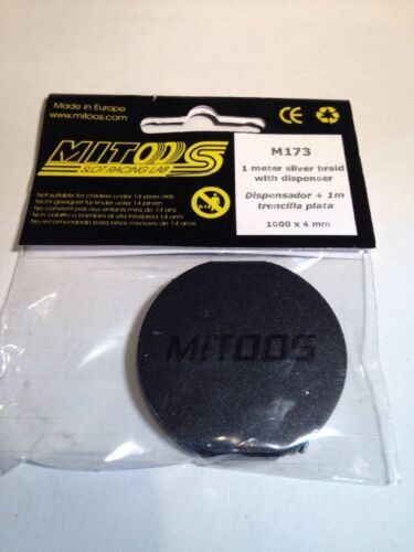 Mitoos M173 1 Meter Silver Alloy Braid and Holder/Dispenser New