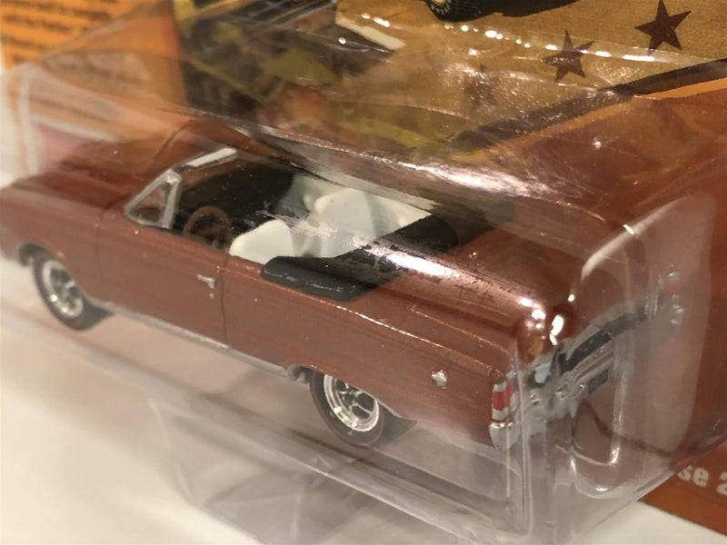 1967 Plymouth GTX Convertible Turbine Bronze Poly 1:64 Johnny Lightning JLMC020A
