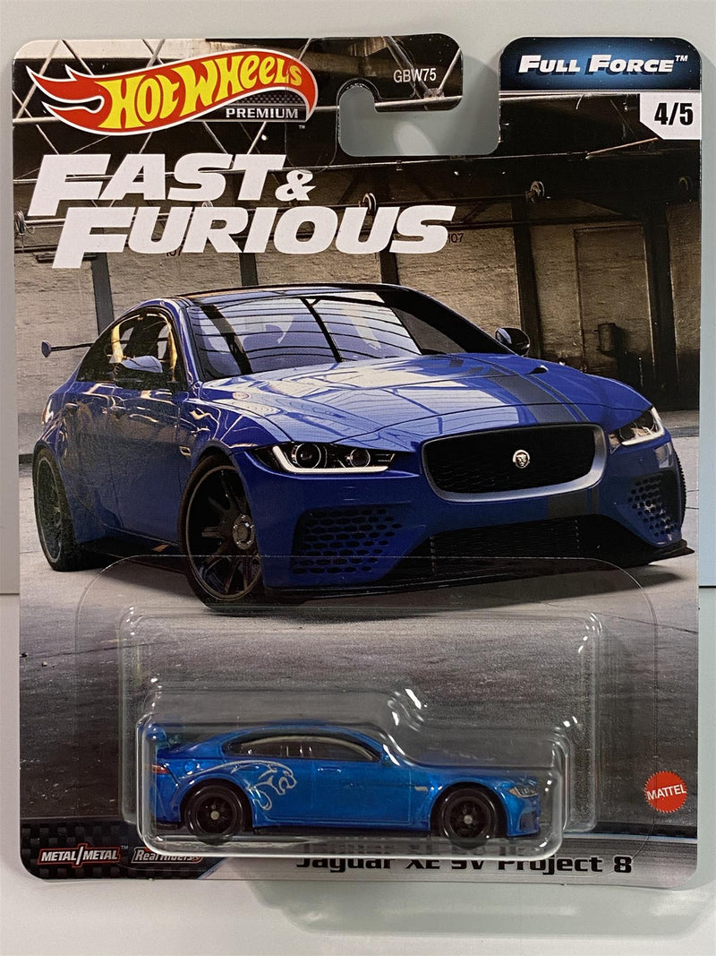 Fast and Furious Jaguar XE SV Project 8 Full Force Hot Wheels GJR74 Real Riders