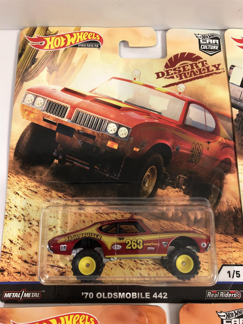 Hot Wheels Desert Rally Real Riders Set of 5 FPY86