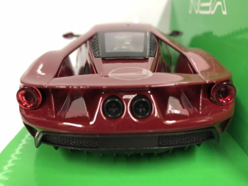 Ford GT Metallic Red 1:24-27 Scale Welly 24082 New Boxed
