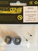 Mitoos M026 Classic Photo Etched Wire Alloy Wheels x2 16.6 x 6mm