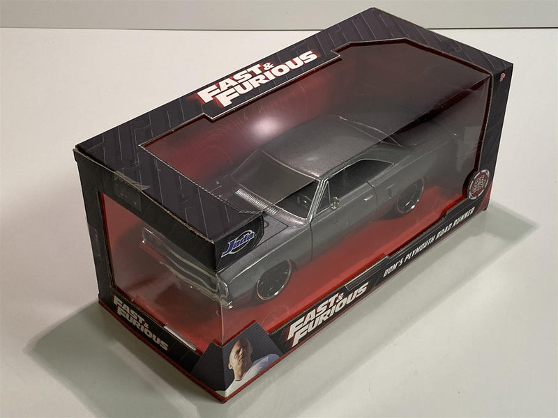 Fast and Furious Doms Plymouth Road Runner Primer Grey 1:24 Jada 30745