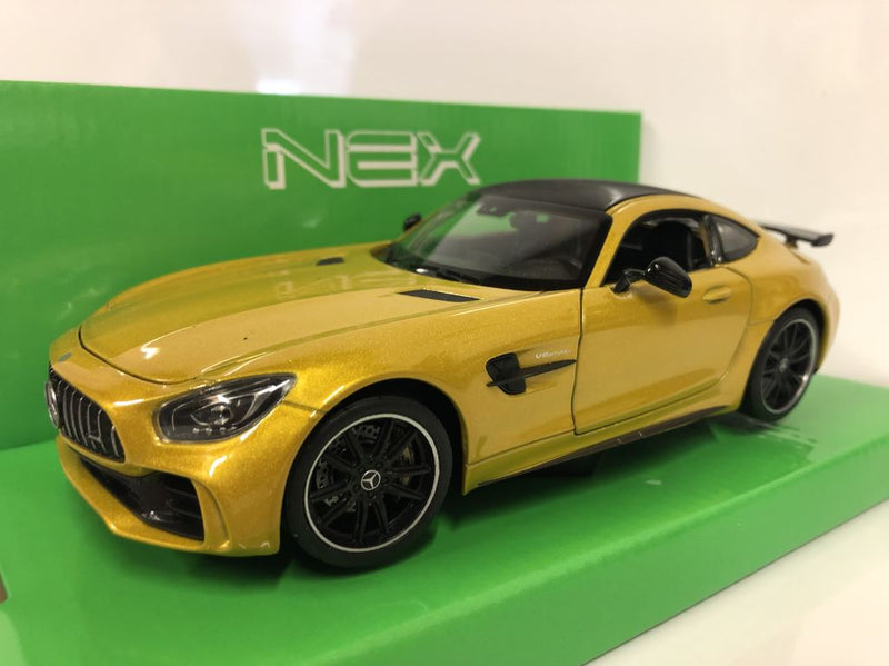 2017 Mercedes AMG GTR Yellow 1:24 27 Scale Welly 24081Y