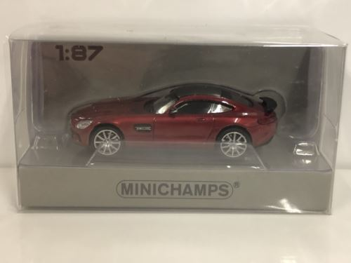 Minichamps 870037121 Mercedes AMG GTS 2015 Red 1:87 Scale