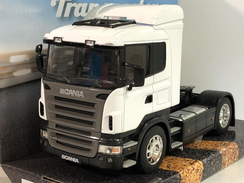Scania R470 White Super Haulier 1:32 Scale Welly 32625W New