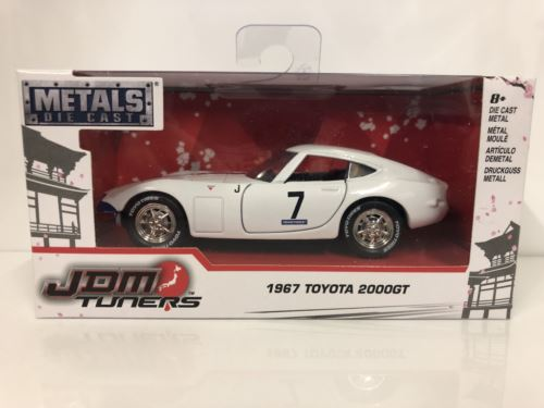 1967 Toyota 2000 GT Glossy White with Blue Stripe