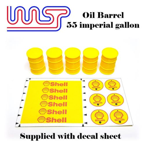 Slot Car Trackside Scenery World Oil Barrel Drum x 6 New WASP