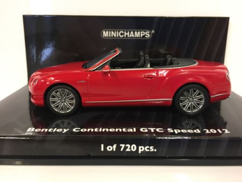 Minichamps 436139061 Bentley Continental GTC Speed 2012 Red 1:43 Scale