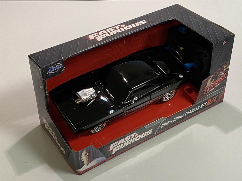 Fast & Furious Doms 1970 Dodge Charger R/T R/C Jada 97044 1:24 Scale
