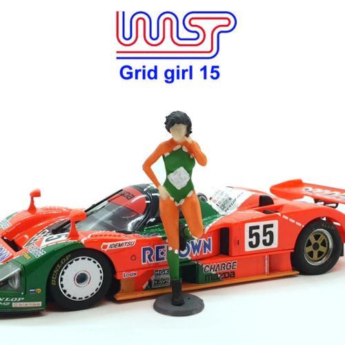 Grid Girl Pit Girls Track Side Scenery Pit Lane Unpainted Figure GG15