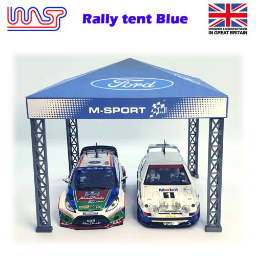 Slot Car Trackside Scenery Rally Service Tent Blue 1:32 Scale WASP
