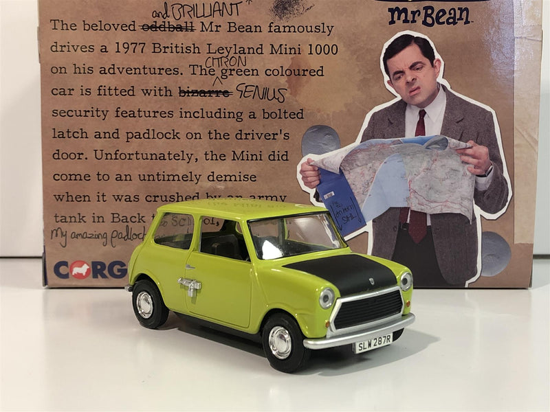 Mr Bean Mini 30 Years of Mr Bean 1:36 Scale Corgi CC82115 Boxed
