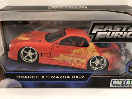 Fast and Furious Orange JLS 1995 Mazda RX-7 1:24 Jada 30747