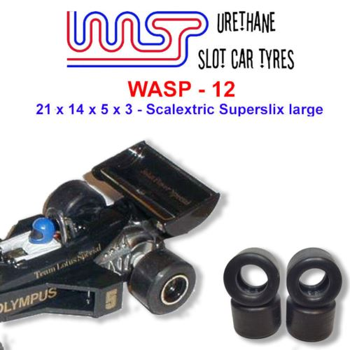 Urethane Slot Car Tyresᅠx 4 Wasp 12 21 x 14 x 5 x 3 Multi Brand Fit