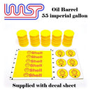 Shell Red 5 x Barrel Drum 1:32 Scale Slot Car Track Scenery Wasp 55