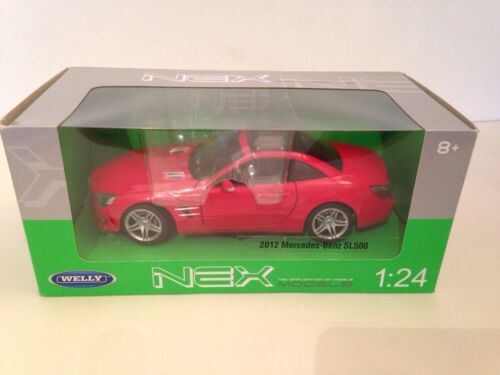 Mercedes Sl 500 (R231) Red 2012  1:24 Scale Welly 24041R New